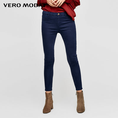 wrap stretch denim pants