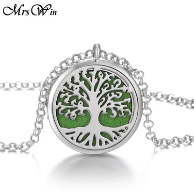 Aromatherapy Necklace Stainless Steel