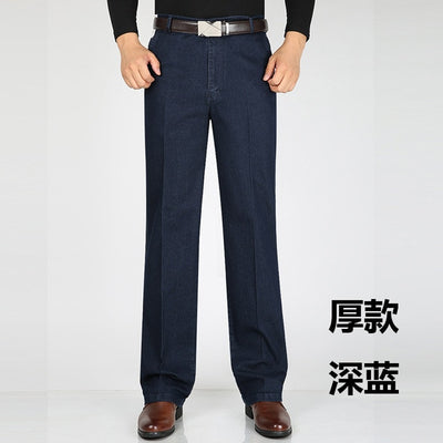 elastic business jeans