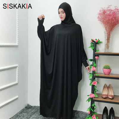 Oversize Bat Sleeve Dress