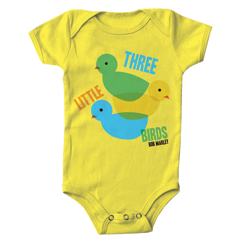 Three Little Birds Yellow Onesie