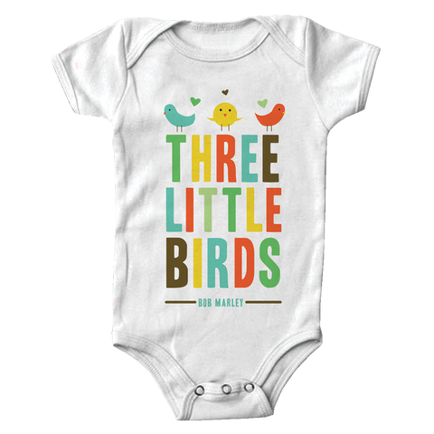 Three Little Birds Heart Onesie