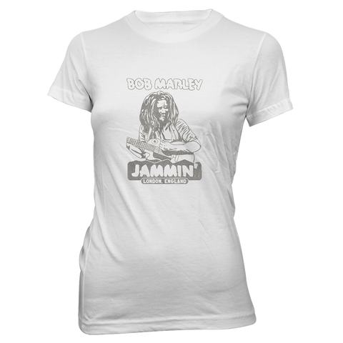 Jammin' in London Ladies White T-Shirt