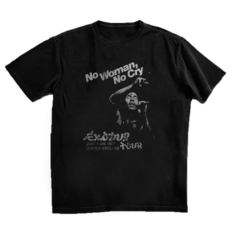 No Woman No Cry in London Black T-Shirt