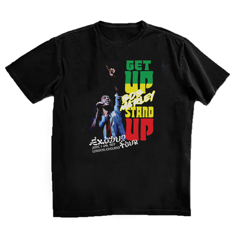Get Up Stand Up in London Black T-Shirt