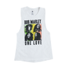 One Love Quad Muscle Ladies White Tank Top