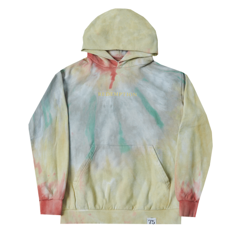 Washed Tie Dye Redemption Pullover Hoodie