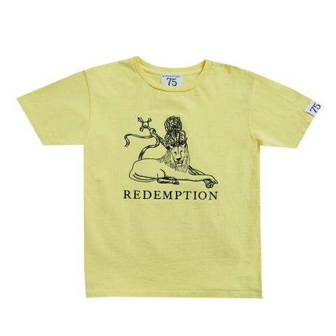 Yellow Redemption Lion Kid's T-Shirt