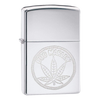 High Polish Chrome Leaf Zippo Lighter