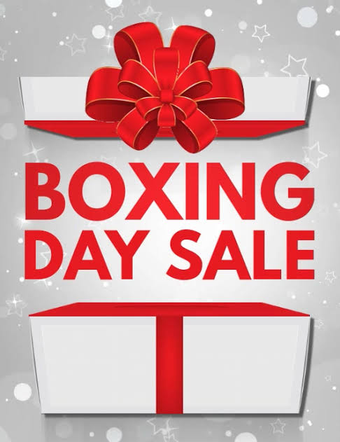 Boxing day to New years sale