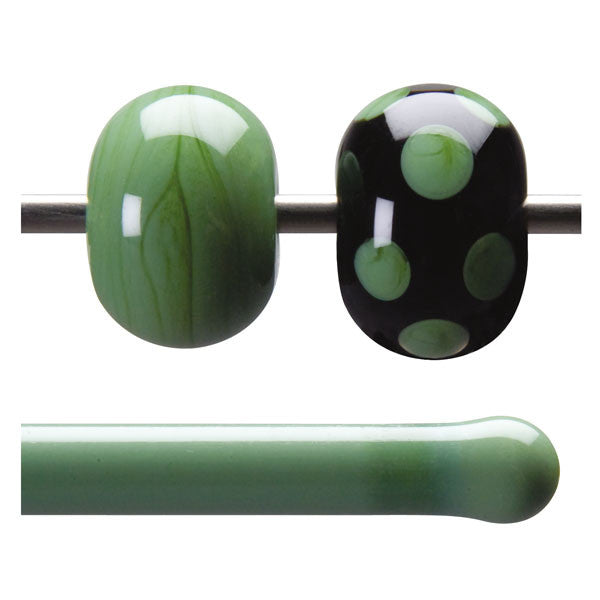 0017 Mineral Green Opaque Rod - chockadoo