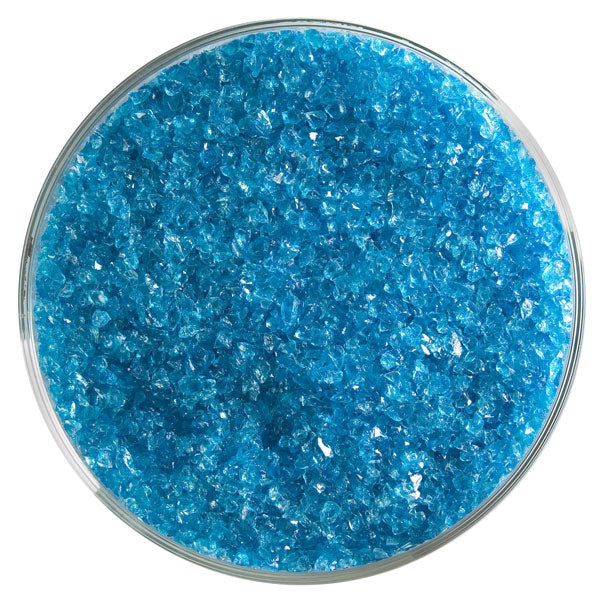 Turquoise Blue Transparent Frit - chockadoo