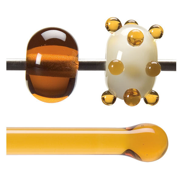 1137 Medium Amber Rod - chockadoo