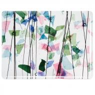 4110: SPRING: Blue, Green, Aqua, and Pink on Clear Clear Base Collage