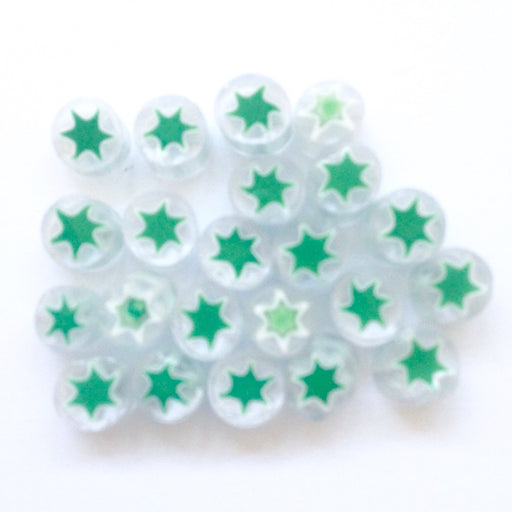 Green Star Millefiori - chockadoo