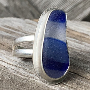 Blue Sky Davenport multicolor sea glass ring