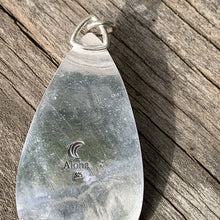 Load image into Gallery viewer, Rose Seaham multicolor sea glass pendant necklace with sterling silver embellishments
