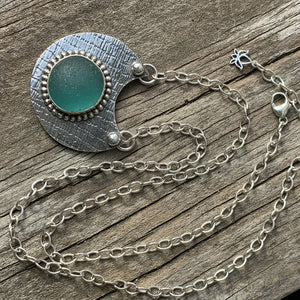 Turquoise/green Seaham Bubble Necklace