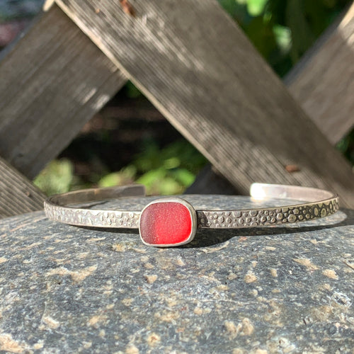 Red Square Mini Cuff