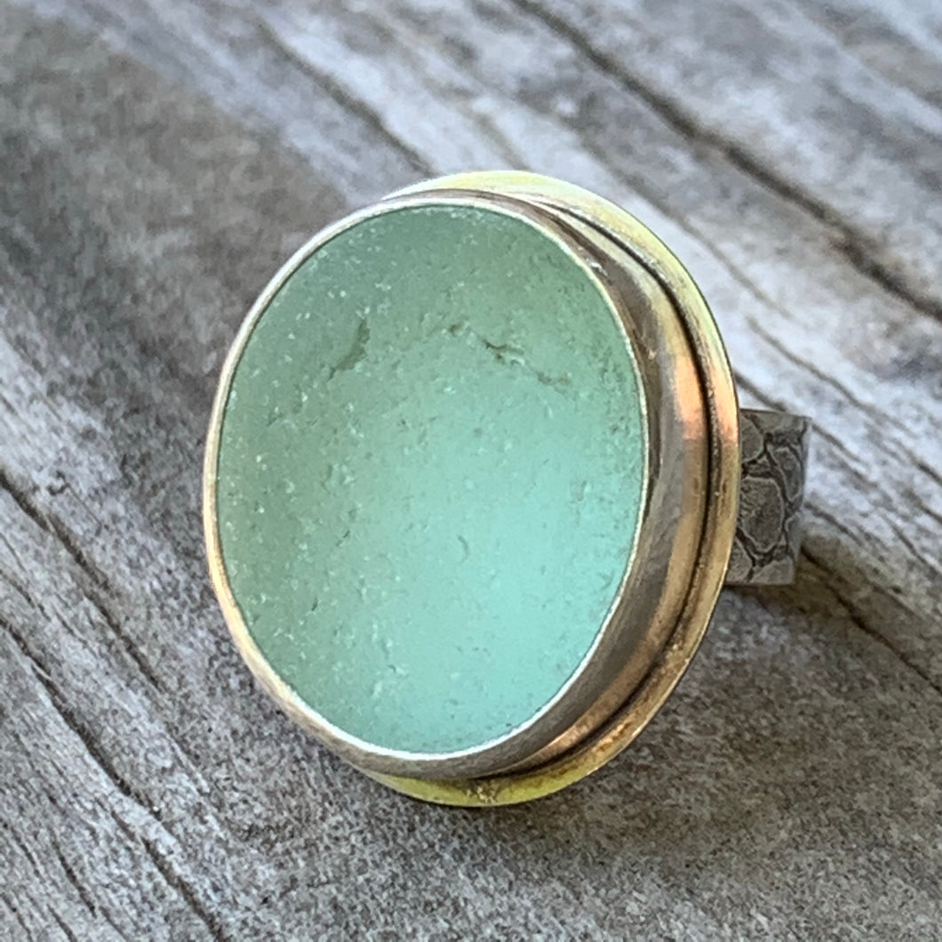 Big English Seafoam Ring