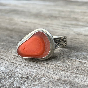 Orange Davenport Triangle Ring