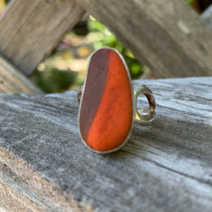 Orange/red and Gray Ring