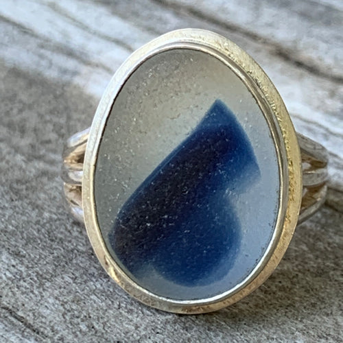 English Blue Swish Ring