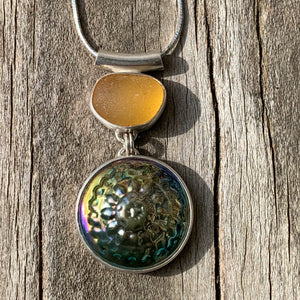 Bright Yellow Urchin Pendant