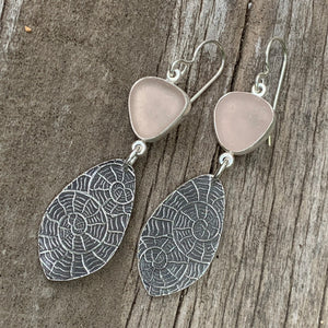 Pale Pink Nautilus Earrings