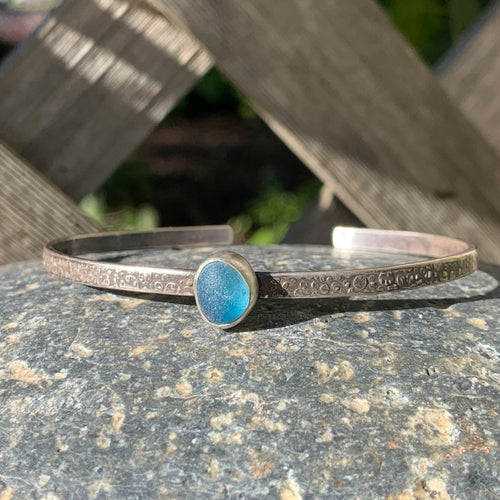 Tiny Blue Tear Mini Cuff