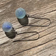 Load image into Gallery viewer, Blue Cat-eye Marble earrings
