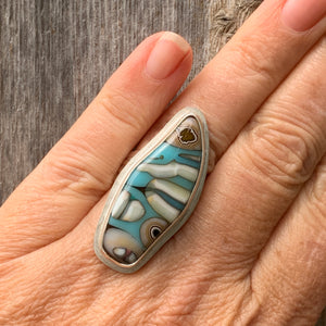 Anemone Fused Glass Ring