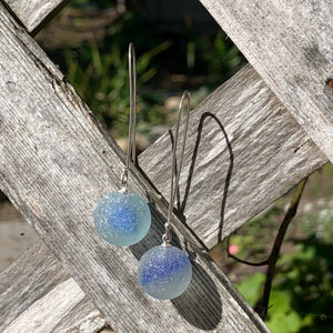 Blue Cat-eye Marble earrings