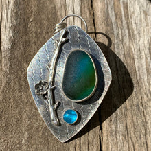 Load image into Gallery viewer, Turquoise Dogwood Pendant