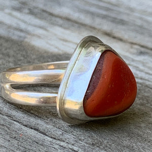 Orange Triangle Ring