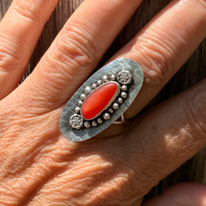 Red Mandala Ring