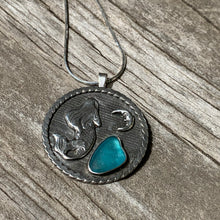 Load image into Gallery viewer, Mermaid Moon Pendant
