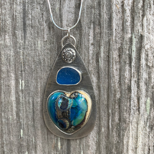 Lamp Work Heart Pendant