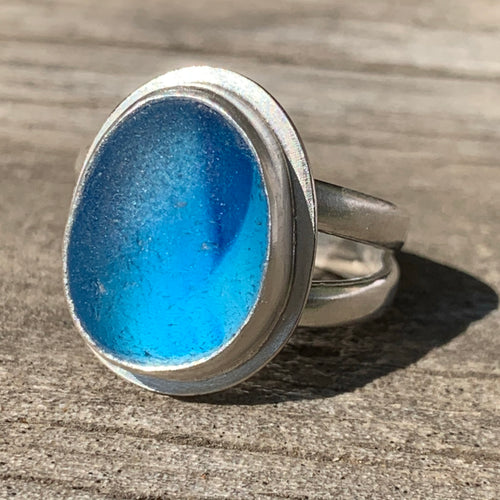 Two Tone Blue Ring
