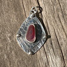 Load image into Gallery viewer, Cherry Red Multi Shield Pendant/ Necklace