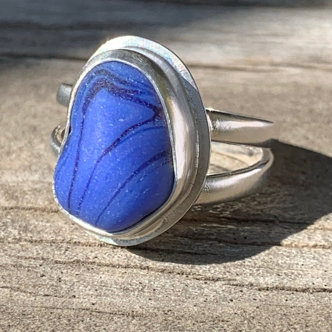 Blue Waterfall Ring