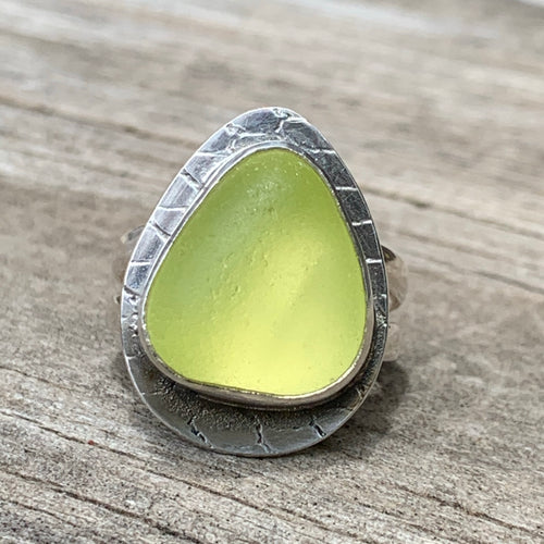 UV Yellow Davenport Triangle Ring