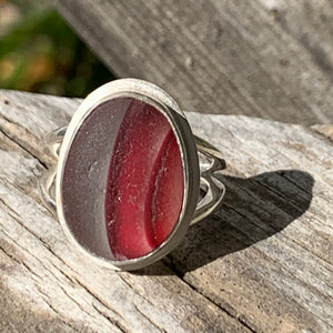 Red Striped Ring