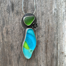 Load image into Gallery viewer, Sea Glass and Fused Glass Pendant