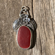 Load image into Gallery viewer, Davenport Red Floral Pendant/Necklace