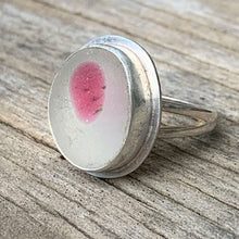 Load image into Gallery viewer, Seaham sea glass pink polka dot ring