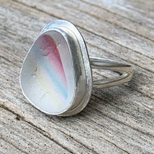Load image into Gallery viewer, Seaham rainbow sea glass ring