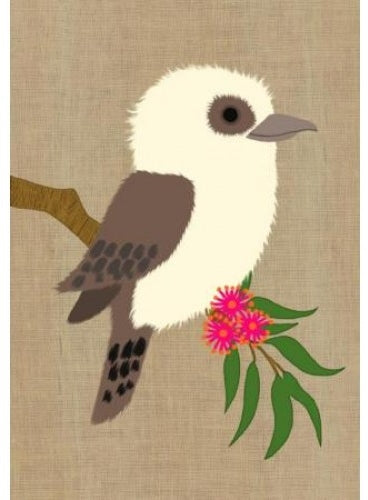 Card Cute Kookaburra Gillian Mary