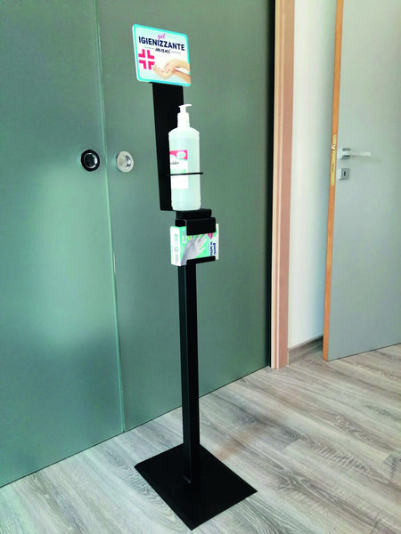 COLONNINA in Ferro porta Dispenser per GEL Igienizzante