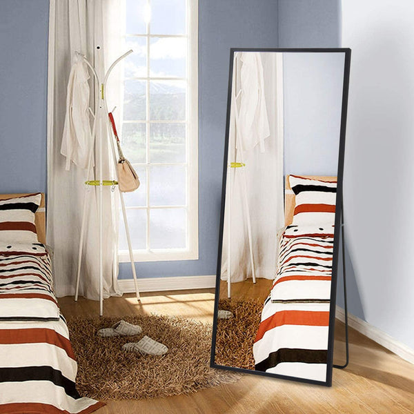 "Full Length Mirror  Black  65"" x 23.6"""